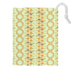 Ethnic Orange Pattern Drawstring Pouches (xxl) by linceazul
