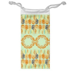 Ethnic Orange Pattern Jewelry Bag by linceazul