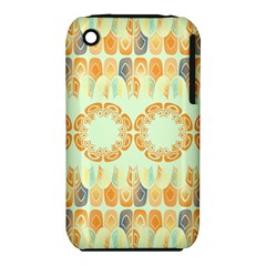 Ethnic Orange Pattern Iphone 3s/3gs by linceazul