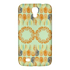 Ethnic Orange Pattern Samsung Galaxy Mega 6 3  I9200 Hardshell Case by linceazul