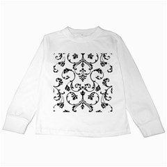 Ornament  Kids Long Sleeve T Shirts by Valentinaart