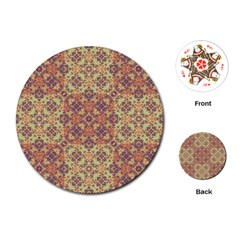Vintage Ornate Baroque Playing Cards (round)  by dflcprints