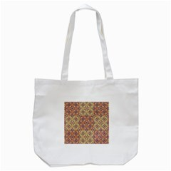 Vintage Ornate Baroque Tote Bag (white) by dflcprints