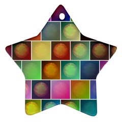 Multicolored Suns Ornament (star) by linceazul