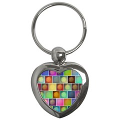 Multicolored Suns Key Chains (heart)  by linceazul