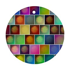 Multicolored Suns Round Ornament (two Sides) by linceazul