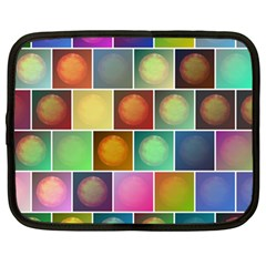 Multicolored Suns Netbook Case (large) by linceazul