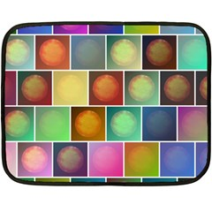 Multicolored Suns Fleece Blanket (mini) by linceazul