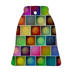 Multicolored Suns Bell Ornament (two Sides) by linceazul