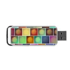 Multicolored Suns Portable Usb Flash (one Side) by linceazul