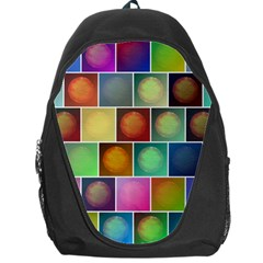 Multicolored Suns Backpack Bag by linceazul