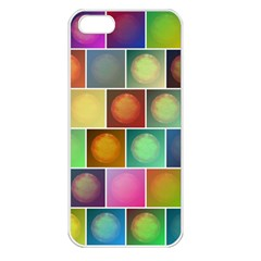 Multicolored Suns Apple Iphone 5 Seamless Case (white) by linceazul