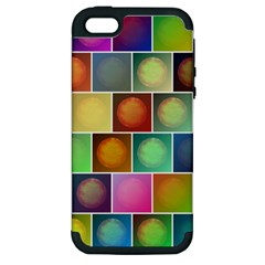 Multicolored Suns Apple Iphone 5 Hardshell Case (pc+silicone) by linceazul