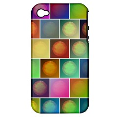 Multicolored Suns Apple Iphone 4/4s Hardshell Case (pc+silicone) by linceazul
