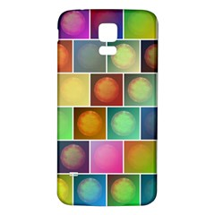 Multicolored Suns Samsung Galaxy S5 Back Case (white) by linceazul