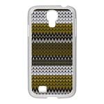 Pattern Samsung GALAXY S4 I9500/ I9505 Case (White) Front
