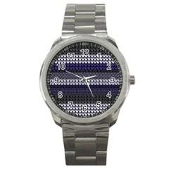 Pattern Sport Metal Watch by Valentinaart