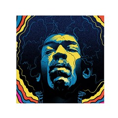 Gabz Jimi Hendrix Voodoo Child Poster Release From Dark Hall Mansion Small Satin Scarf (square) by Onesevenart
