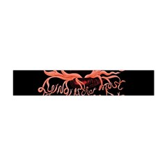 Panic At The Disco   Lying Is The Most Fun A Girl Have Without Taking Her Clothes Flano Scarf (mini) by Onesevenart