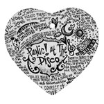 Panic! At The Disco Lyric Quotes Ornament (Heart)
