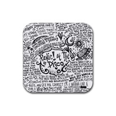 Panic! At The Disco Lyric Quotes Rubber Square Coaster (4 Pack)  by Onesevenart
