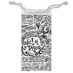 Panic! At The Disco Lyric Quotes Jewelry Bag by Onesevenart