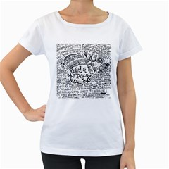Panic! At The Disco Lyric Quotes Women s Loose Fit T Shirt (white) by Onesevenart