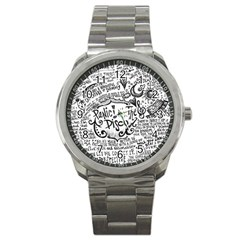 Panic! At The Disco Lyric Quotes Sport Metal Watch by Onesevenart