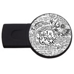 Panic! At The Disco Lyric Quotes USB Flash Drive Round (4 GB)
