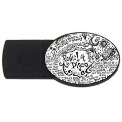 Panic! At The Disco Lyric Quotes Usb Flash Drive Oval (4 Gb) by Onesevenart