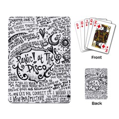 Panic! At The Disco Lyric Quotes Playing Card by Onesevenart