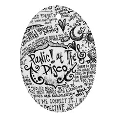 Panic! At The Disco Lyric Quotes Oval Ornament (two Sides) by Onesevenart