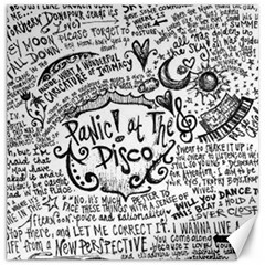 Panic! At The Disco Lyric Quotes Canvas 12  X 12   by Onesevenart