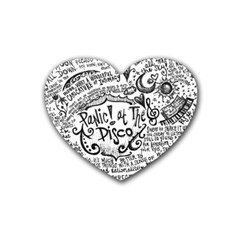Panic! At The Disco Lyric Quotes Heart Coaster (4 Pack)  by Onesevenart