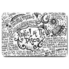 Panic! At The Disco Lyric Quotes Large Doormat  by Onesevenart