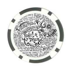 Panic! At The Disco Lyric Quotes Poker Chip Card Guard by Onesevenart