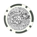 Panic! At The Disco Lyric Quotes Poker Chip Card Guard