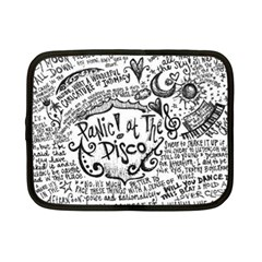 Panic! At The Disco Lyric Quotes Netbook Case (small)  by Onesevenart