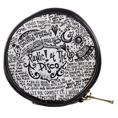 Panic! At The Disco Lyric Quotes Mini Makeup Bags by Onesevenart