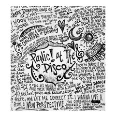 Panic! At The Disco Lyric Quotes Shower Curtain 66  X 72  (large)  by Onesevenart