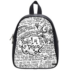 Panic! At The Disco Lyric Quotes School Bags (small)  by Onesevenart