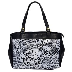 Panic! At The Disco Lyric Quotes Office Handbags by Onesevenart