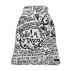 Panic! At The Disco Lyric Quotes Ornament (bell) by Onesevenart