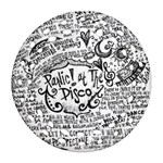 Panic! At The Disco Lyric Quotes Round Filigree Ornament (Two Sides)