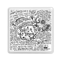 Panic! At The Disco Lyric Quotes Memory Card Reader (square)  by Onesevenart