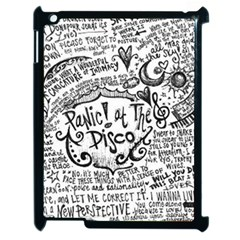 Panic! At The Disco Lyric Quotes Apple Ipad 2 Case (black) by Onesevenart