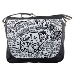 Panic! At The Disco Lyric Quotes Messenger Bags by Onesevenart