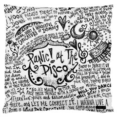 Panic! At The Disco Lyric Quotes Large Cushion Case (one Side) by Onesevenart