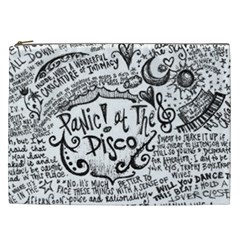 Panic! At The Disco Lyric Quotes Cosmetic Bag (xxl)  by Onesevenart