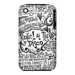 Panic! At The Disco Lyric Quotes Iphone 3s/3gs by Onesevenart